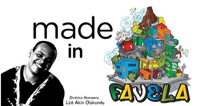Logo da coluna mede In favela, com Léo Akin Olakunde  falando sobre direitos humanos