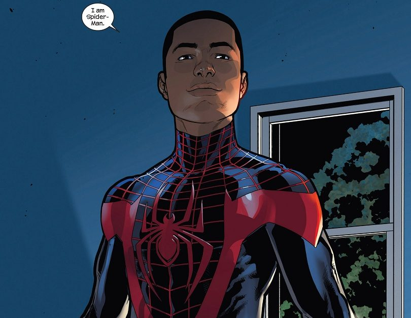 Miles Morales, who is half African American, half Puerto Rican, is the new Spider-Man.